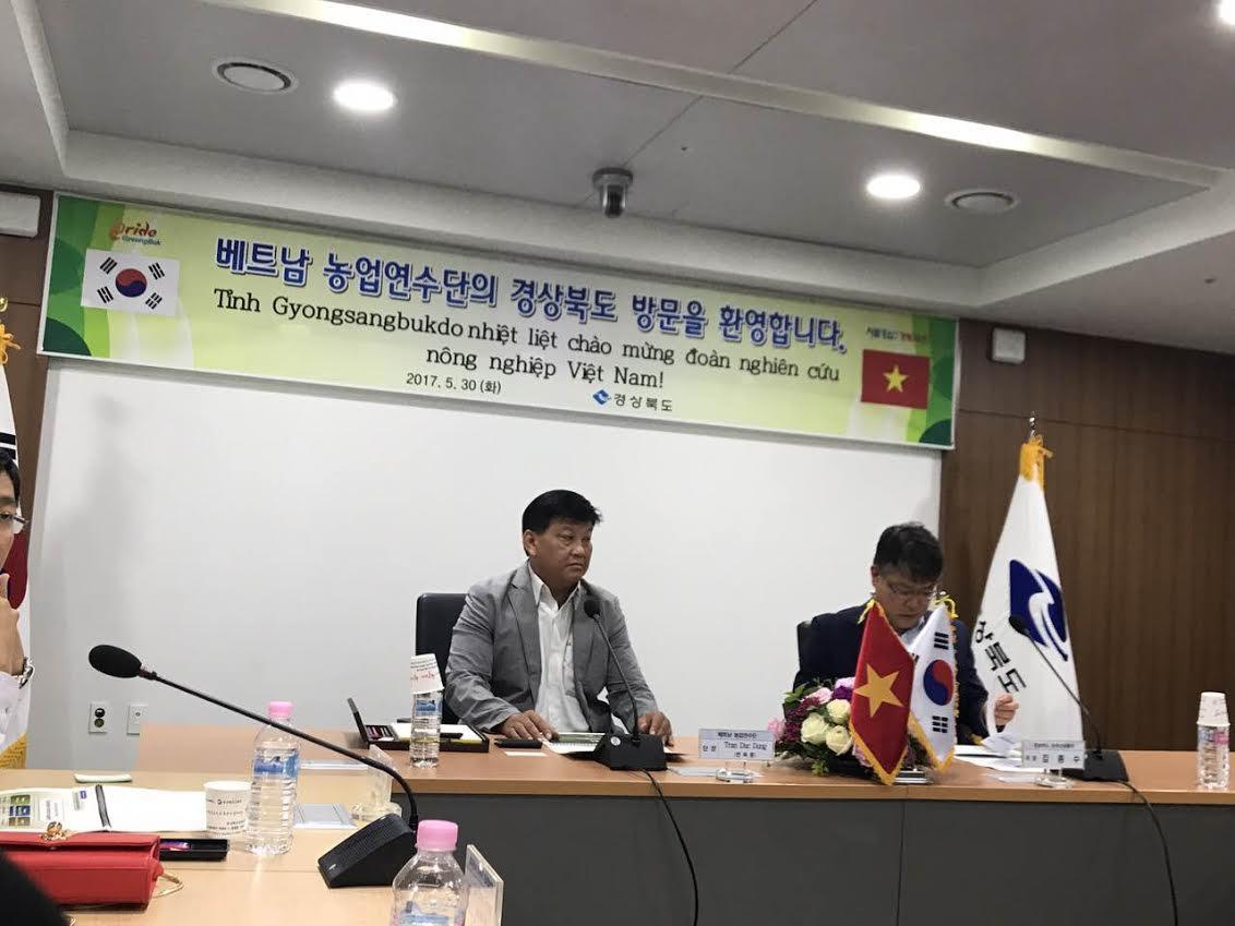 Giao lưu với lãnh đạo sở văn hoá và truyền Thông tỉnh Gyeongsangbukdo của Hàn Quốc