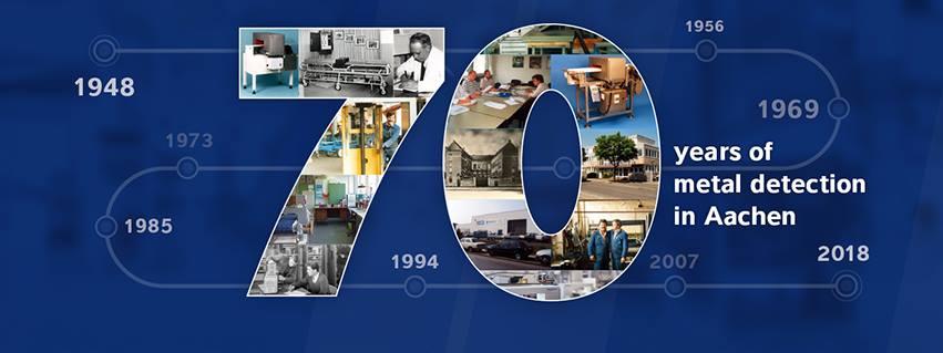 Xin chúc mừng Minebea Intec - Nhà máy tại Aachen đã đạt mốc 70 năm nghiên cứu, phát triển và sản xuất Máy dò kim loại.