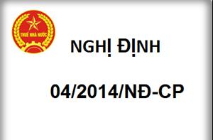 Nghị định 04/2014/NĐ-CP sửa đổi Nghị định 51/2010/NĐ-CP về hóa đơn bán hàng hóa, cung ứng dịch vụ
