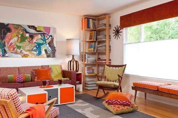 Xu hướng thiết kế nội thất mới: Pha trộn nhiều màu sắc sặc sỡ