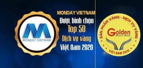 """Monday VietNam được bình chọn """"Top 50 dịch vụ vàng Việt Nam 2020"""""""